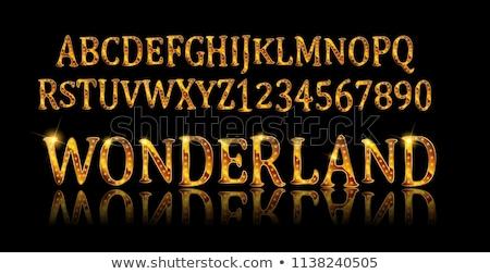 Tinte Zeichnung Alphabet isoliert weiß jpg Stock foto © Voysla