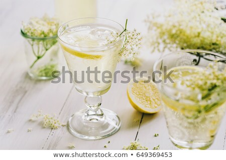 şişe · limonata · cam · buz · tablo · içecekler - stok fotoğraf © mady70
