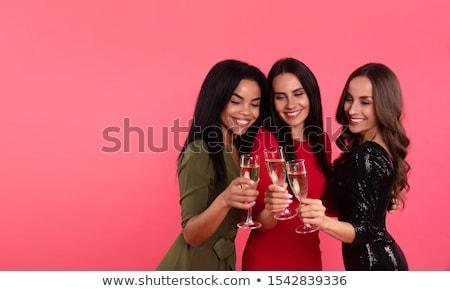 Stunning trio of beautiful women Stock photo © dash