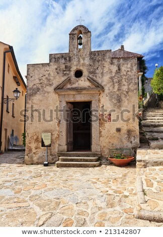 Kapel oude dorp eiland Italië stad Stockfoto © Antonio-S
