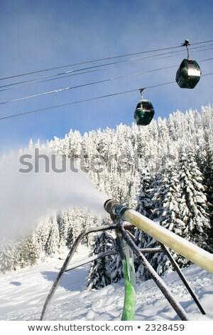 artificial · pista · de · esquí · imagen · vacío · nieve · francés - foto stock © aikon