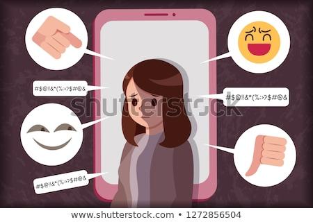 Odio teléfono foto nino teléfono móvil Foto stock © Novic