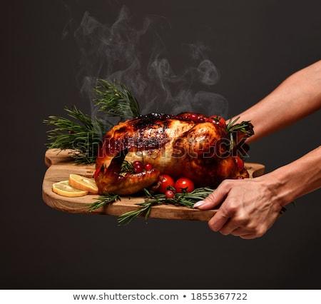 Turquia jantar delicioso olhando cozinhado perfeito Foto stock © brittenham