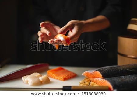 суши Ингредиенты имбирь wasabi риса соевый соус Сток-фото © zhekos