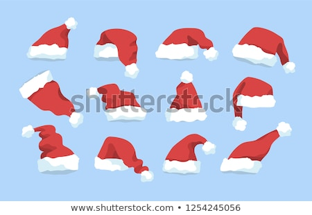 Red Christmas hat with blue trim Stock photo © orensila