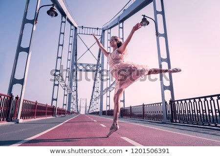 young delicate and talented ballet dancer stock photo © konradbak