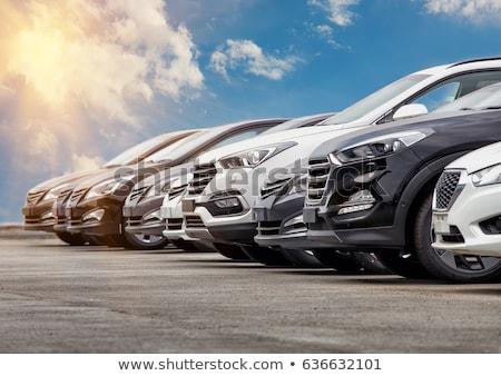 модель автомобилей старые миниатюрный Спортивный автомобиль белый Сток-фото © nelsonart