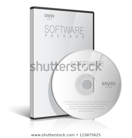 Open DVD box with cd isolated Stock photo © ozaiachin