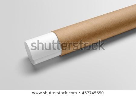 картона Трубы бумаги подобно ткань Сток-фото © schizophrenia