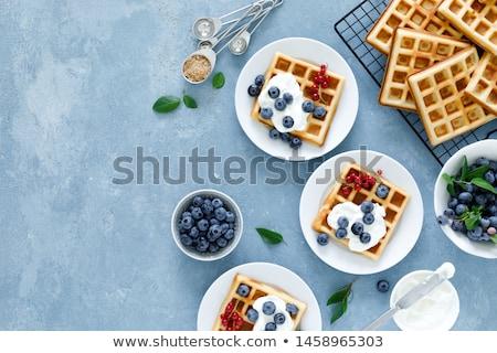 Pattern of tasty fresh breakfast pastries Stock photo © ozgur