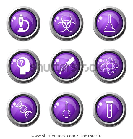 Science Instruments Violet Vector Button Icon Design Set Stock photo © rizwanali3d