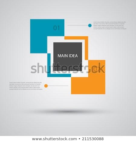 een · twee · vector · papier · vooruitgang · product - stockfoto © orson