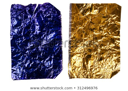two crumpled pieces of aluminum foil stock photo © taigi