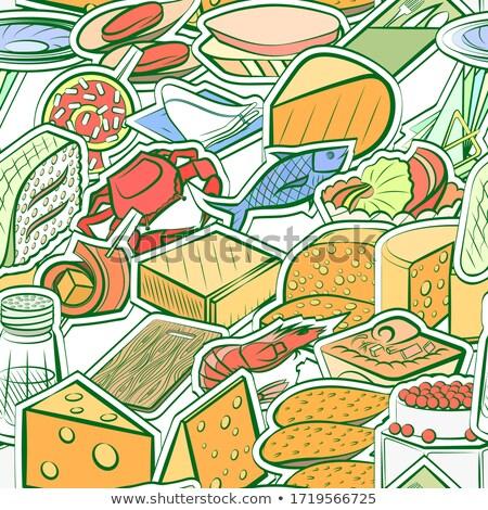 シーフード サラダ サンドイッチ ロール 健康 サイド ストックフォト © rojoimages