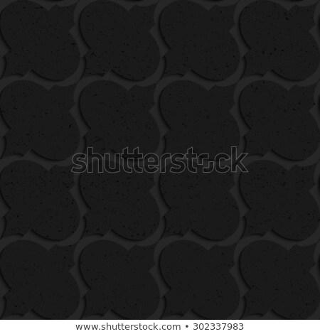 Fekete mintázott műanyag átló absztrakt mértani Stock fotó © Zebra-Finch