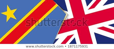 Büyük Britanya Kongo bayraklar bilmece yalıtılmış beyaz Stok fotoğraf © Istanbul2009
