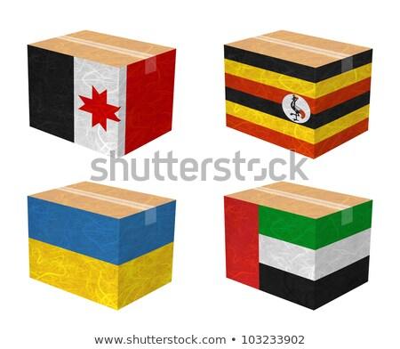 Egyesült Arab Emírségek Uganda zászlók puzzle izolált fehér Stock fotó © Istanbul2009