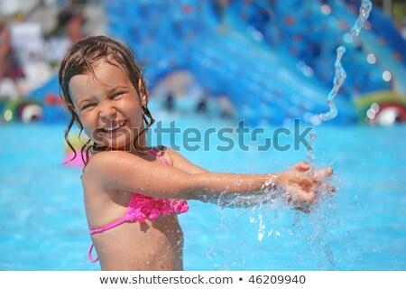 女の子 プール 水 跳ね アクアパーク 少女 ストックフォト © Paha_L