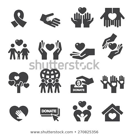 insurance hands icons stock photo © ayaxmr