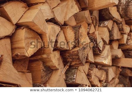 yakacak · odun · kesmek · doğal - stok fotoğraf © meinzahn