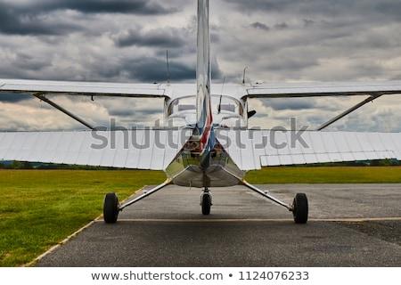 Propeller vliegtuig witte geïsoleerd licht Blauw Stockfoto © feverpitch