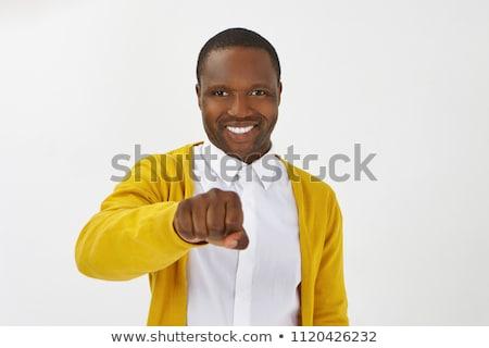 Felirat megállapodás férfi fegyver toll munkás Stock fotó © alphaspirit