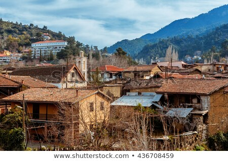 Kakopetria village. a picturesque village located in Troodos Mountains. Nicosia District, Cyprus Stock photo © Kirill_M