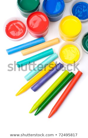 colored crayons and gouache stock photo © oleksandro