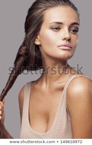Girl with natural makeup and hairdo Stock photo © svetography