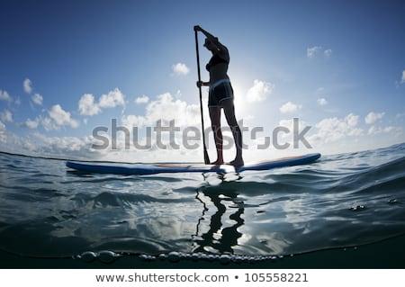 stand up paddleboard on lake stock photo © pixelsaway