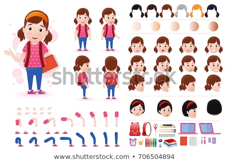 Girl Character Template Vector Illustration. Stock photo © robuart