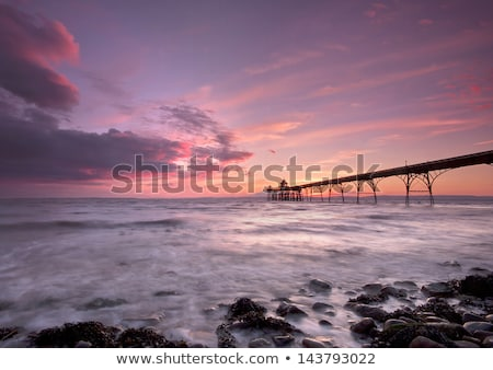 Sunset over Clevedon Pier, North Somerset, England, UK Stock photo © CaptureLight