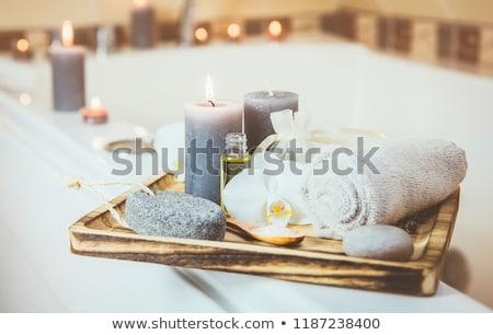 banho · relaxante · estância · termal · momento · folha - foto stock © stephaniefrey