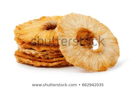 Suszy ananas plastry słodkie smaczny żywności Zdjęcia stock © smuki