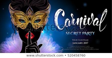 festa · máscara · cartaz · cartão · férias - foto stock © kakigori