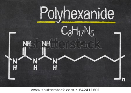 Blackboard with the chemical formula of Polyhexanide Stock photo © Zerbor