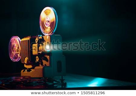 Cinematografie gesneden boord tabel home film Stockfoto © racoolstudio