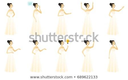 Young asian fiancee laughing. Stock photo © RAStudio