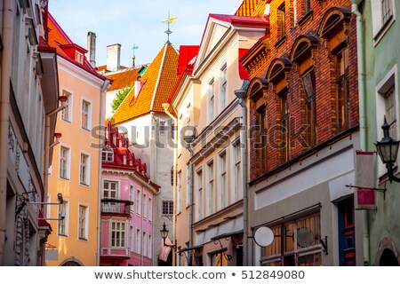 Old street in Tallinn Stock photo © backyardproductions