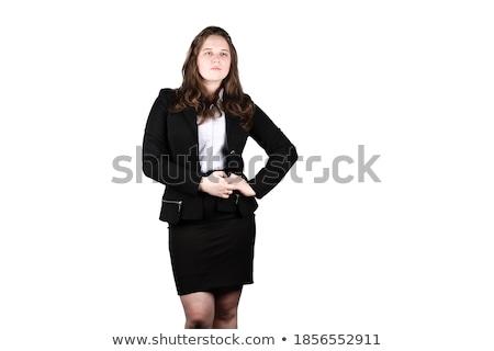 Imprenditrice guardando verso il basso bianco verde executive marketing Foto d'archivio © wavebreak_media