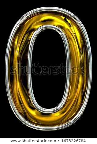 Numero acciaio metal carattere pari a zero argento Foto d'archivio © MaryValery