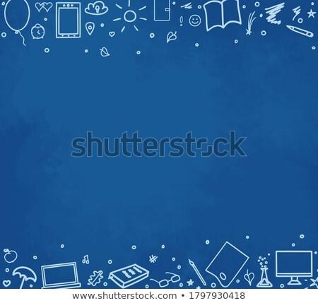Yeni eğilim örnek mavi kara tahta Stok fotoğraf © tashatuvango