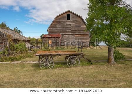 Edad rancho edificios viaje color campos Foto stock © pictureguy