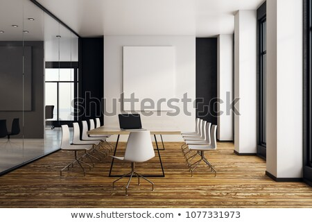 Advertising on Laptop in Conference Room. 3D. Stock photo © tashatuvango