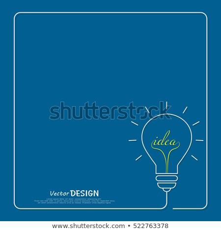 new ideas   doodle illustration on blue chalkboard stock photo © tashatuvango