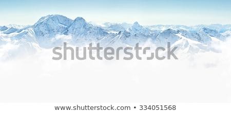 góry · zimą · chmury · krajobraz · śniegu · drzew - zdjęcia stock © pictureguy
