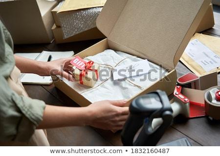 Feminino aniversário natal presentes fita Foto stock © lovleah