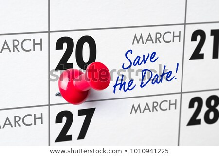 Wall calendar with a red pin - March 20 Stock photo © Zerbor