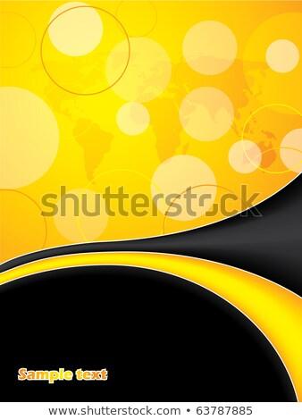 letterhead design in yellow black colors stock photo © sarts