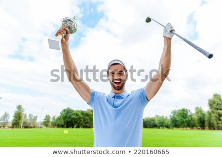 Masculina golfista trofeo hombre golf Foto stock © IS2